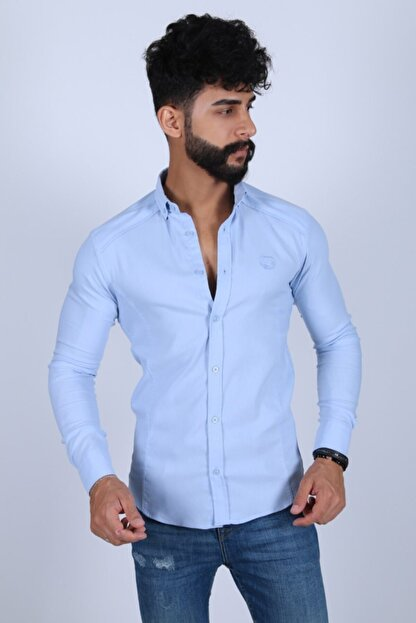 JİYAN Erkek Mavi Gömlek