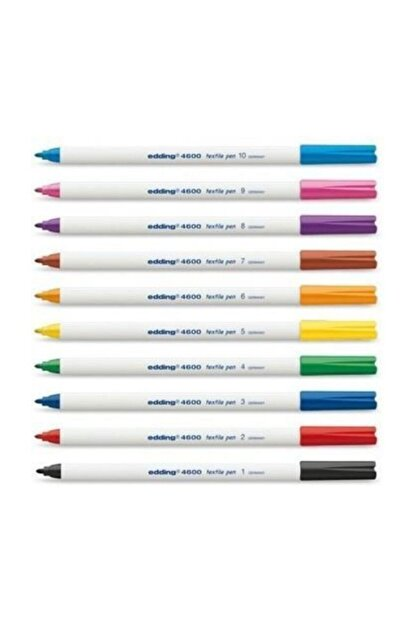 Edding 4600 tekstil kalem seti, karışık 10 temel renk