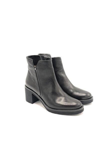 Poletto Kadın Siyah Hakiki Deri Kalın Topuklu Bot Plt18y-644 36