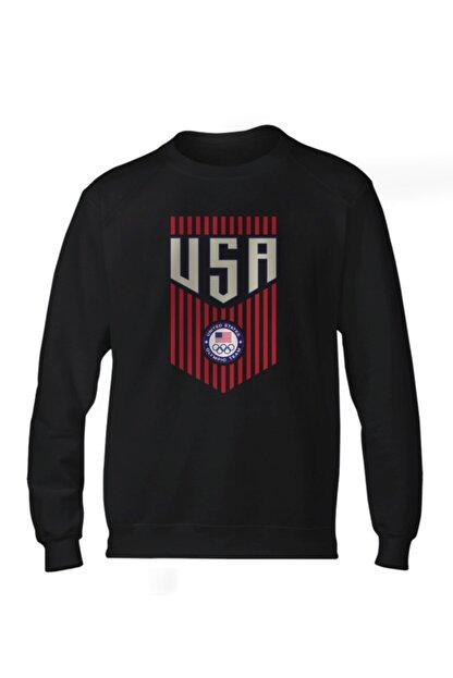 Fanatico Siyah U.s.a. Basic Sweatshirt