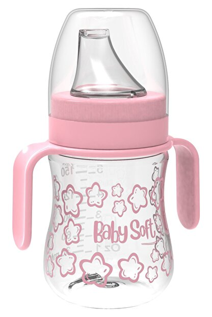 Babysoft 150 Ml Akıtmaz Plastik Suluk Pembe Kız / Erkek