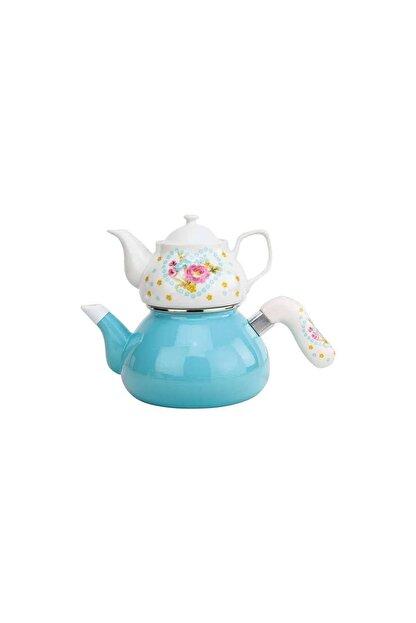 Avşar Porselen Demlikli Çay Makinesi
