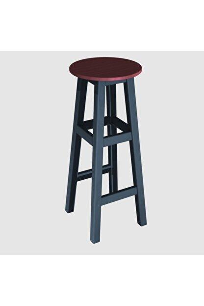 Arbre Bar Taburesi 80 Cm - Çelik Mavi Iskelet- Tabla Renk Seçenekli