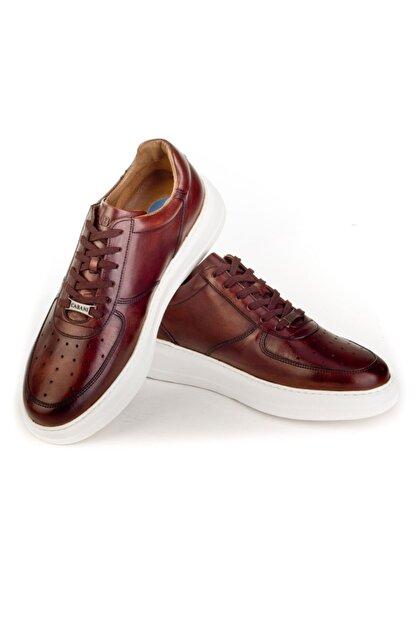 Cabani Erkek Kahverengi Sanetta Deri Ayakkabı