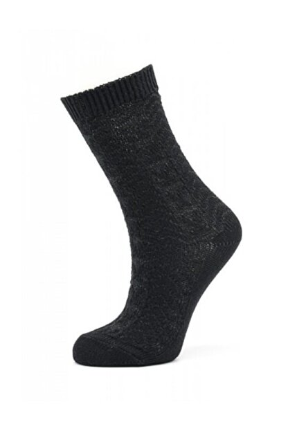 Style Kadın Siyah Bambu Soket Çorabı Sb7842