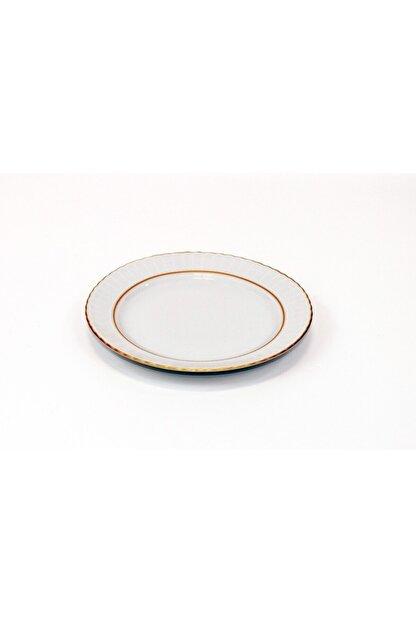Kütahya Porselen Yaldızlı Servis Tabağı 25 Cm
