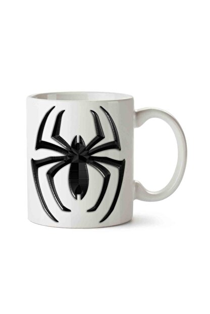 MET DESİGN Beyaz Spider Man Venom Porselen Kupa Bardak