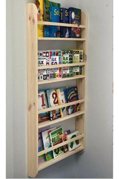 Oyuncak Odası Montessori Çocuk Odası Eğitici Kitaplık Ahşap Duvara Monte 4 Raflı