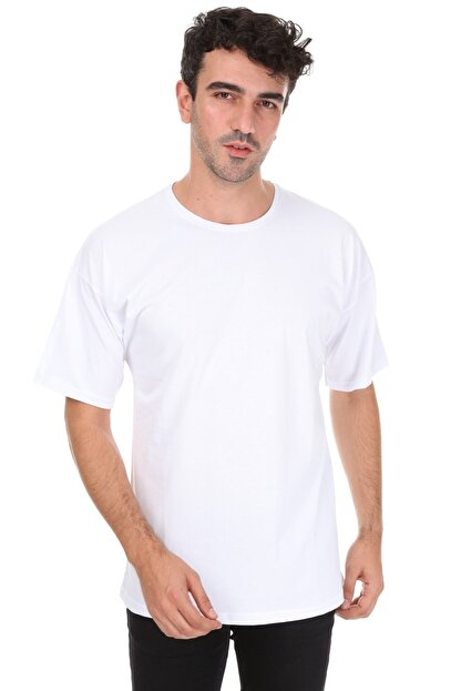 Millionaire Düz Beyaz Oversize Unisex T-shirt