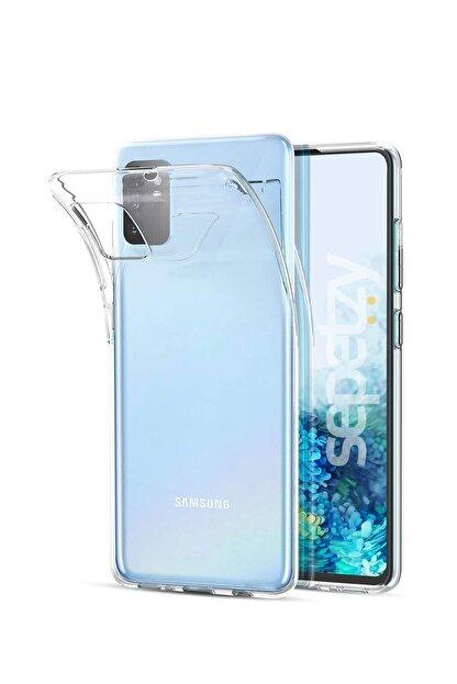 sepetzy Samsung Galaxy S20 Plus Şeffaf Kılıf Clear Silikon Kapak