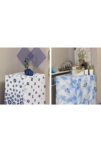 Evdy Mavi Bodrum Model Çamaşır Makinesi Örtüsü 4246