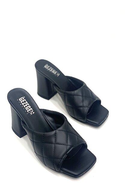 Shoe Miss Siyah Kapitone Terlik