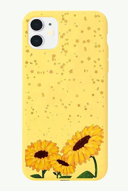 POFHİ Galaxy S10 Ayçiçeği Sarı Premium Telefon Kılıfı