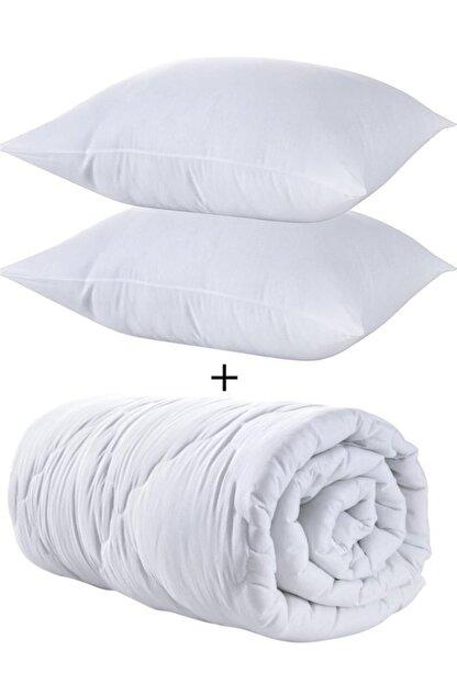 Zeynep Tekstil Çift Kişilik Silikon Yorgan Seti +2 Yastık Hediyeli