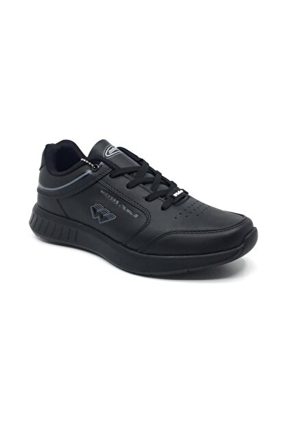 Wickers Erkek  Siyah Ortopedik Günlük Mevsimlik Spor Ayakkabı 40-44