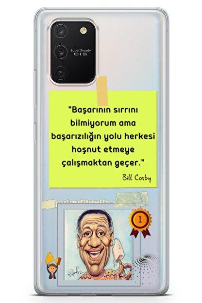 Lopard Samsung Galaxy A91 Kılıf Caps Bill Cosby Arka Kapak Koruma Desenli Full Koruyucu