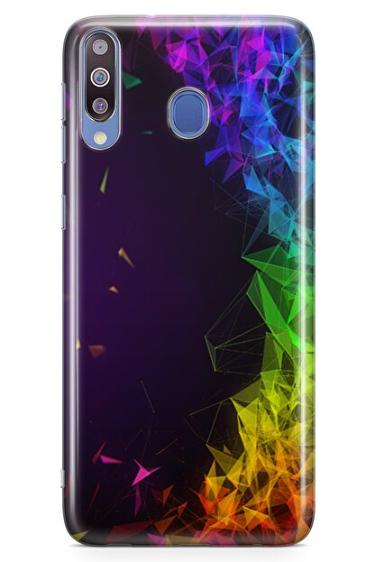 Lopard Samsung Galaxy M30 Kılıf Prizma Arka Kapak Koruma Desenli Full Koruyucu