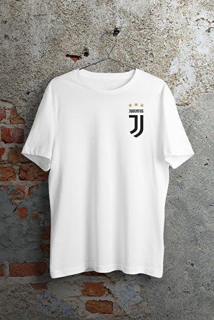 WePOD Juventus On Heart Beyaz Unisex Tshirt