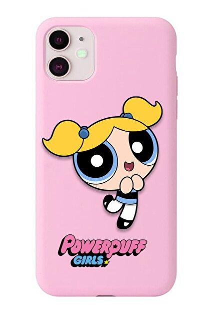 POFHİ Xiaomi Mi A2 Lite Bubbles Powerpuff Girls Pembe Premium Telefon Kılıfı