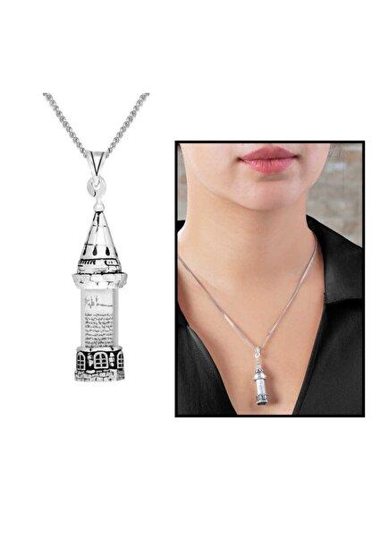 Tesbihgram Galata Kulesi Tasarım 925 Ayar Gümüş Cevşen Kolye