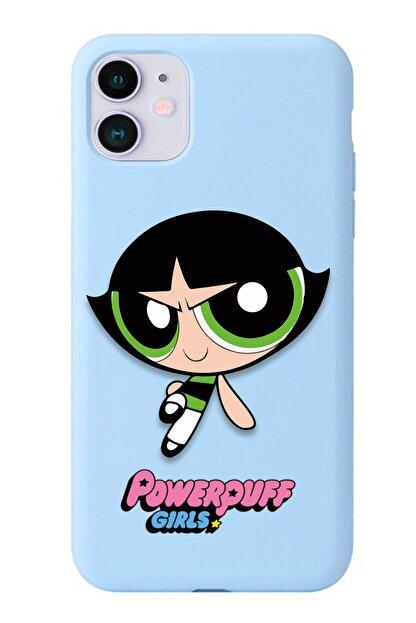 POFHİ Xiaomi Mi 8 Lite Buttercup Powerpuff Girls Mavi Premium Telefon Kılıfı