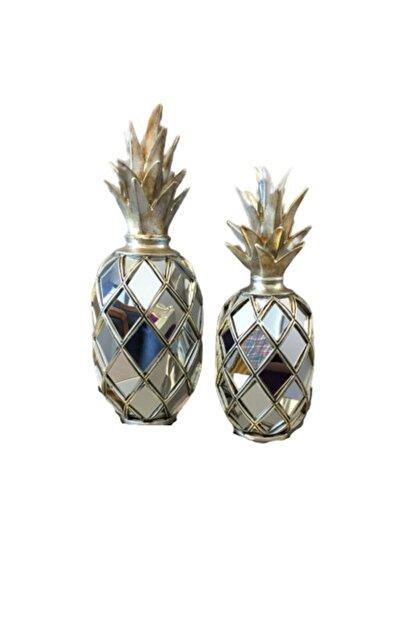BLZ Home Gümüş Aynalı Ananas Seti