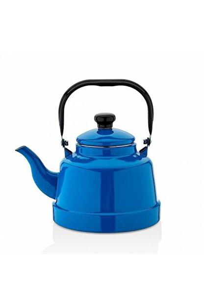 Ebru Eç-18 Emaye Mavi Demlik Çaydanlık