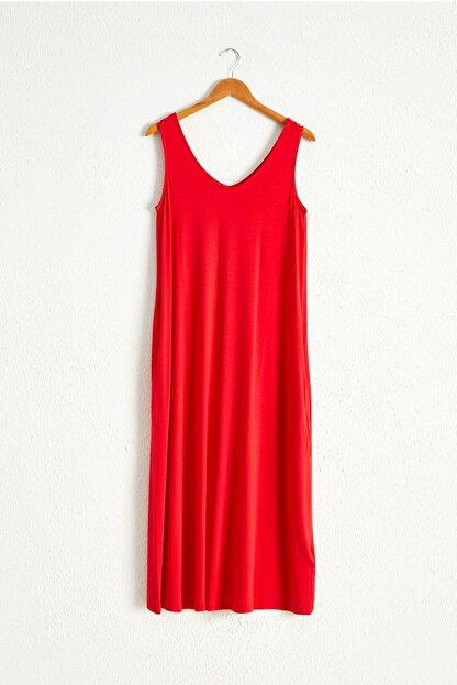 LC Waikiki Kadın Kırmızı Elbise 0WCU28Z8