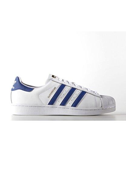 adidas Erkek Spor Ayakkabı - Superstar Foundatıon Ftw Croyal Ftw - B27141