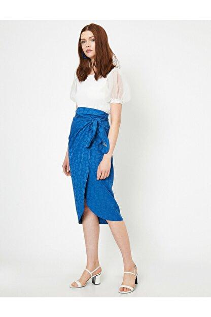 Koton Skirtly Yours Styled By Melis Agazat - Desenli Beli Baglamali Etek