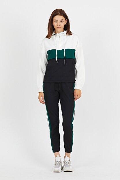 Koza Butik Zara Yeşil Garnili Fermuarlı Eşofman Takımı