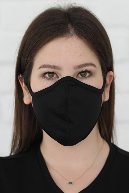 Savana Siyah Yıkanabilir Maske