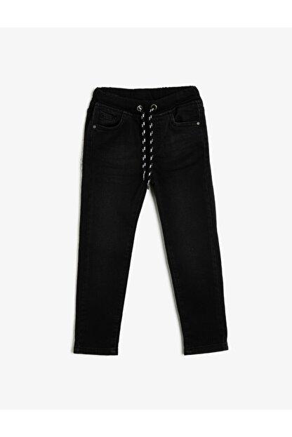 Koton Erkek Çocuk Siyah Beli Baglamalı Jean Pantolon