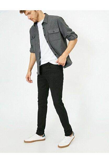 Koton Erkek Siyah Skinny Fit Jean Pantolon