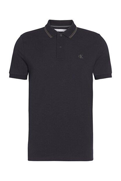 Calvin Klein Erkek Siyah Polo Yaka T-shirt J30j314565