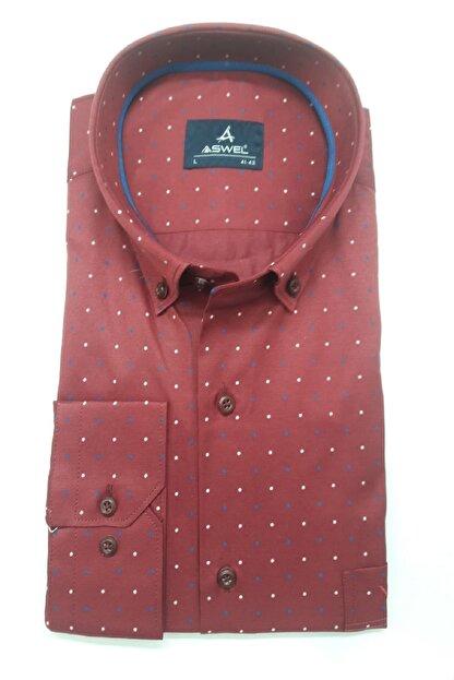 ASWEL Erkek Uzun Kol Yaka Düğmeli Gömlek