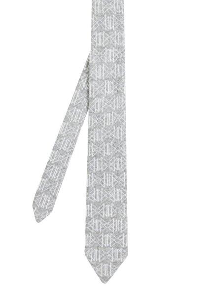 Hemington Desenli Açık Gri Örgü Kravat