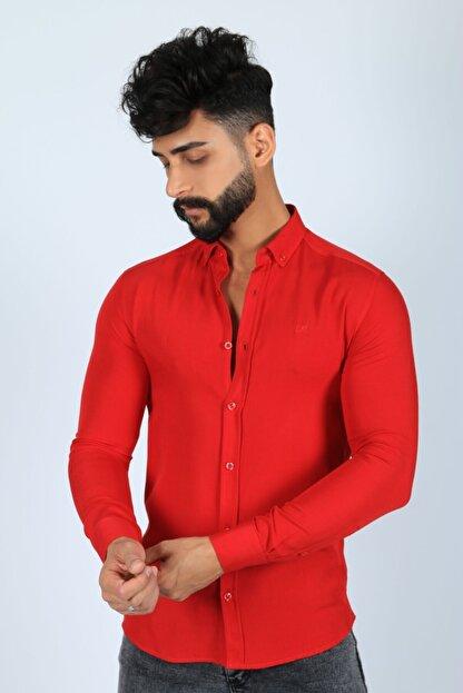 JİYAN Erkek Kırmızı Gömlek