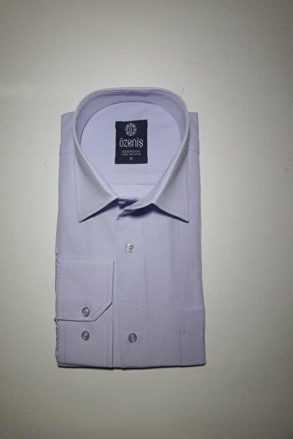 Özeniş Erkek Uzun Kollu Regular Fit Düz Renk Gömlek