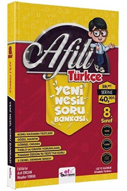 efx akademi Afili Türkçe Yeni Nesil Soru Bankası