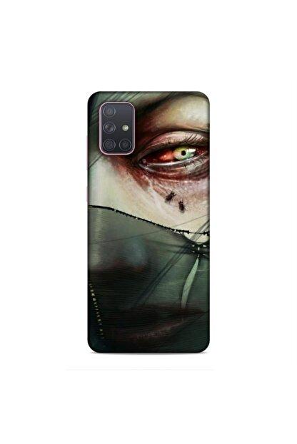 Pickcase Samsung Galaxy A71 Kılıf Desenli Arka Kapak Peçeli Yüz