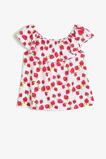 Koton Kız Çocuk Kırmızı T-Shirt