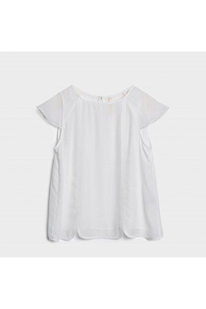 Yargıcı Kadın Beyaz Yakası Dekorlu Bluz