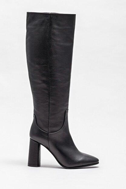Elle Kadın Adrano-1 Sıyah Çizme 20K052