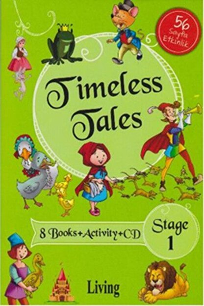 Living English Dictionary Timeless Tales Stage 1 8 Books Activity Cd