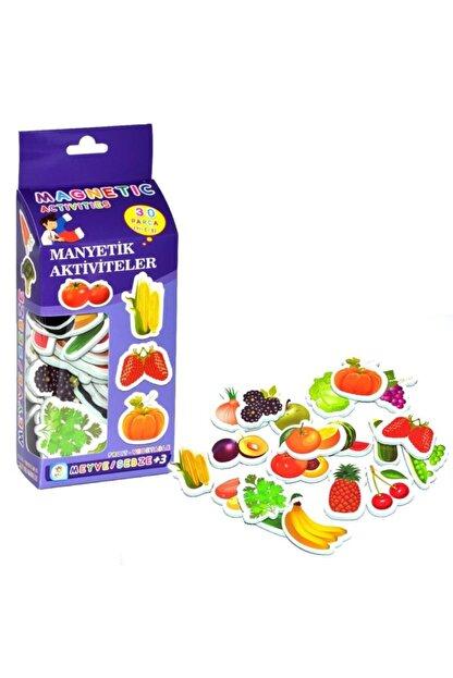 LAÇO Eğitici Manyetik Meyve & Sebze Oyun Seti 30 Parça