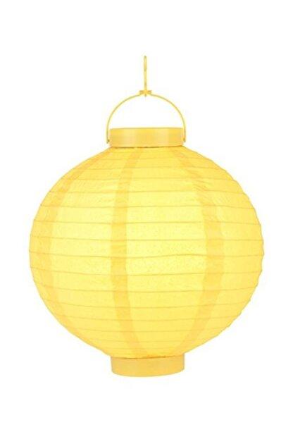 Pandoli 20 Cm Led Işıklı Kağıt Japon Feneri Sarı Renk