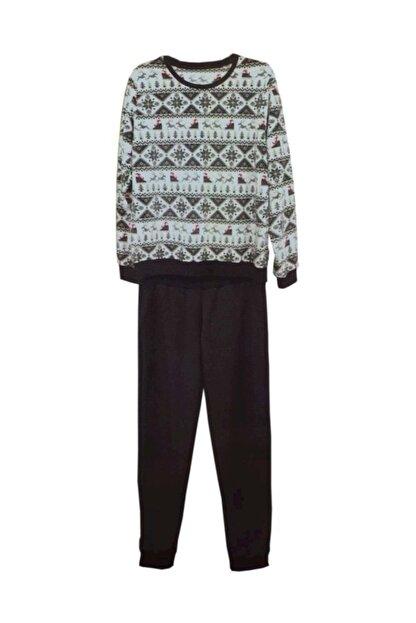 Penye Mood Kadın Kahverengi Pijama Takım 8463