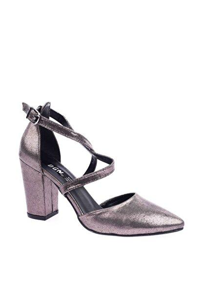 Dgn 1101 Kadın Sivri Burun Parmak Dekolteli Çapraz Bilekten Bağlı Topuklu Ayakkabı 20Y