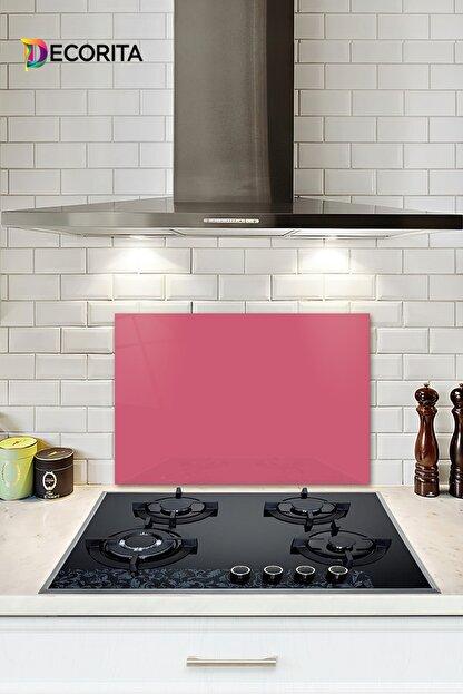 Decorita Düz Renk - Neon Pembe | Cam Ocak Arkası Koruyucu | 40cm x 60cm